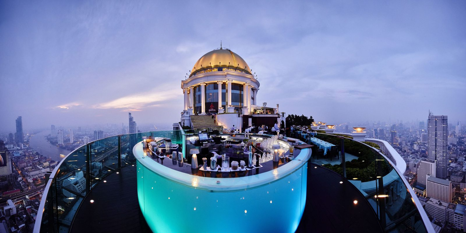 Sky Bar Building and Balcony Panorama