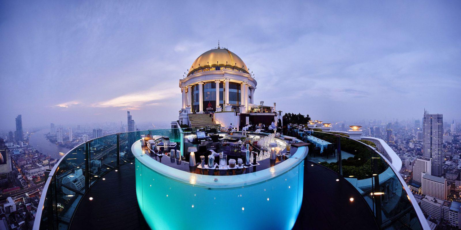Sky Bar Building and Balcony Panorama