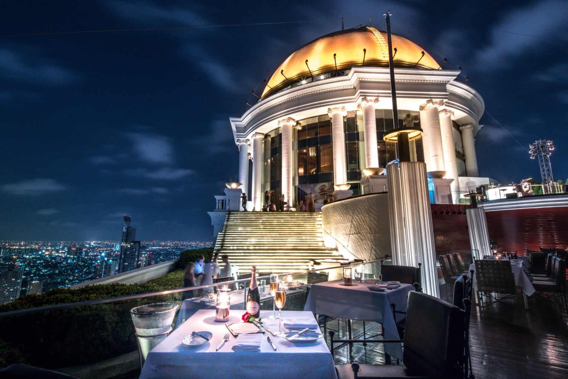 Riverside Rooftop Dining In Bangkok Mediterranean Cuisine