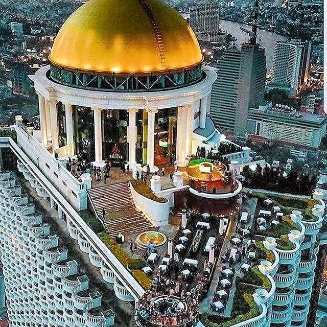 Overhead shot of dome at lebua