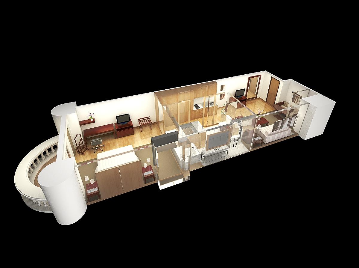 Suite layout Render