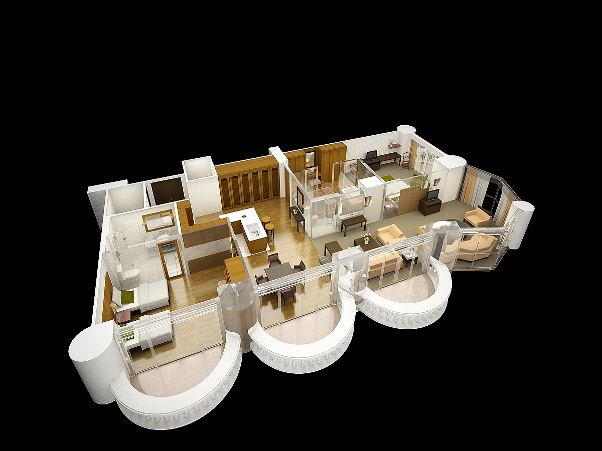 Luxury Suite Layout render