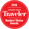 Red Logo of 2018 Condé Nast Traveler Readers' Choice Awards