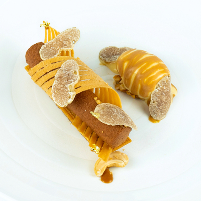 "Cashew Nut ""Sable and Cream"" – White Truffle Menu"