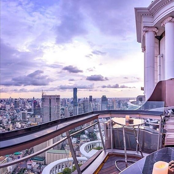 Whisky bar with Bangkok views