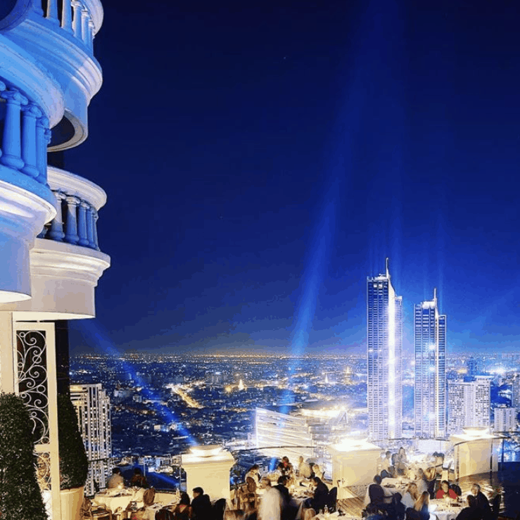 Rooftop restaurant with views of Bangkok